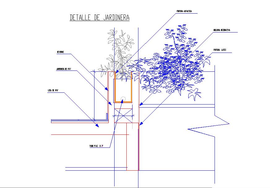 Garden Detail in DWG File