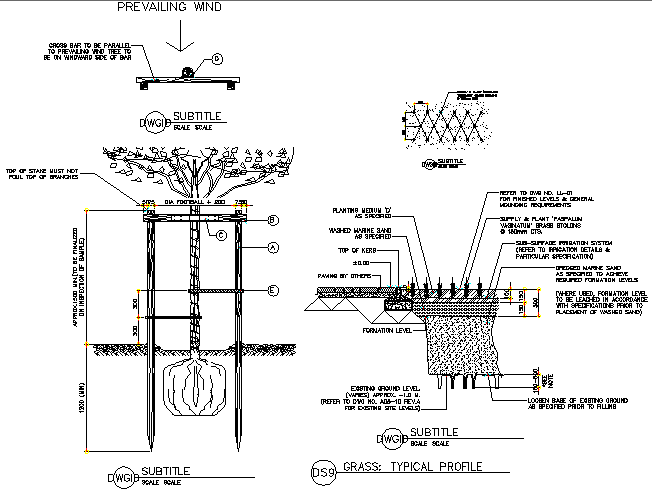 Garden detail dwg file