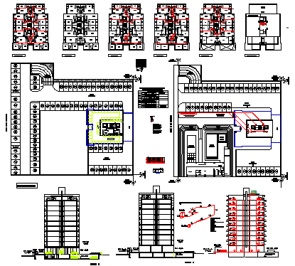 Gas installation design drawing of apartment building drawing