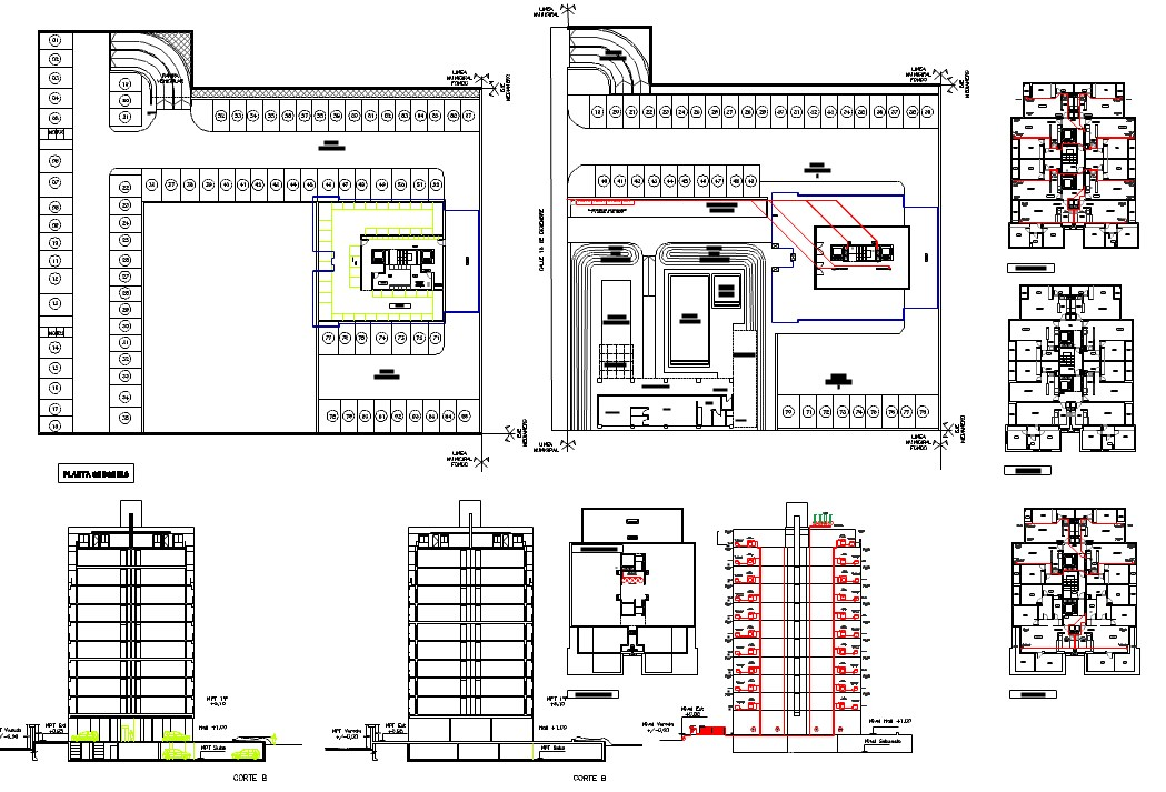 Gas installation view with pipe connection for apartment dwg file
