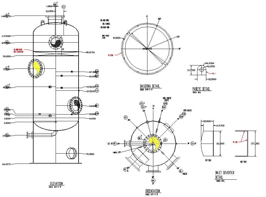 Gas separating equipment plan detail