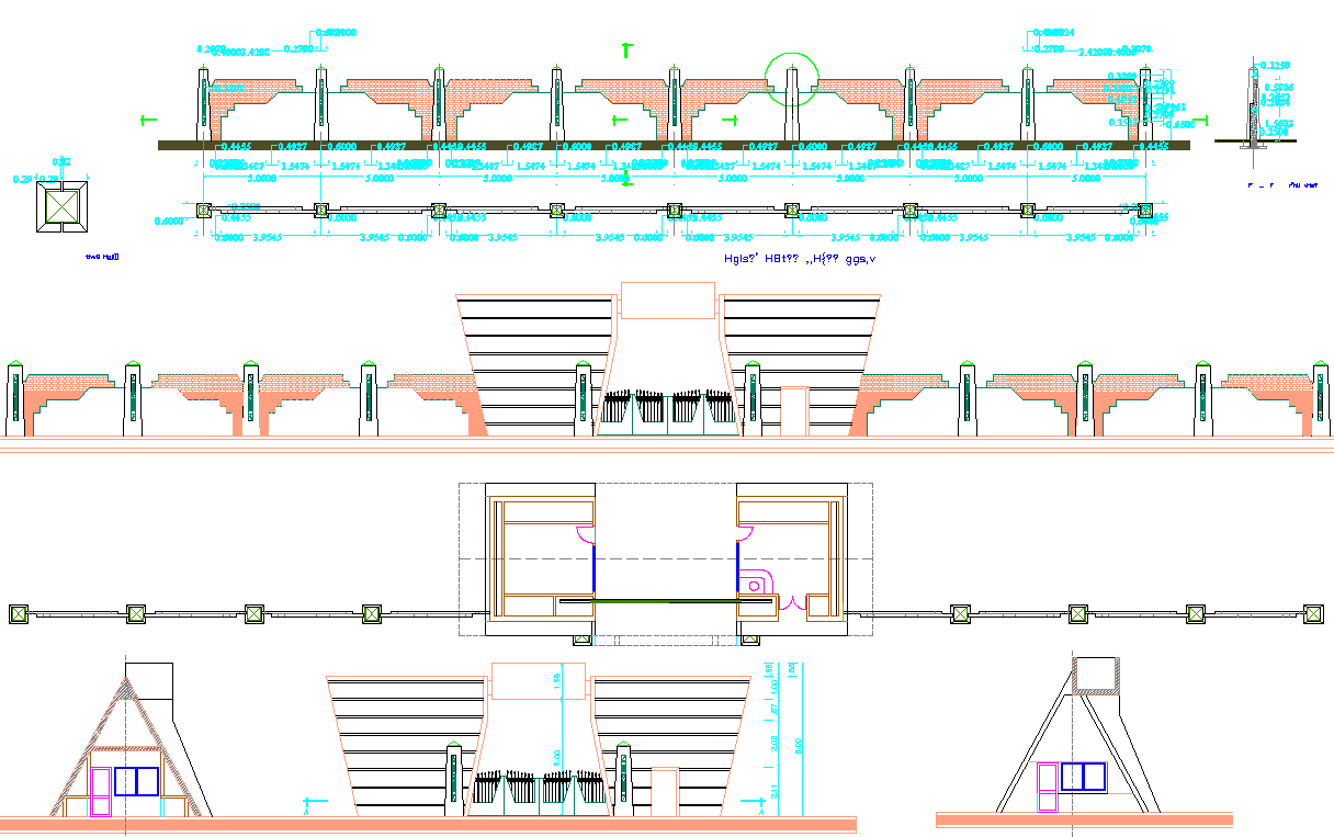 Gate Design and Section plan