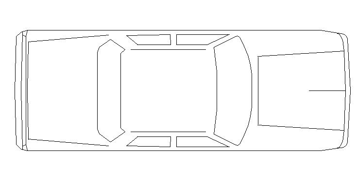 General car top view cad block design dwg file