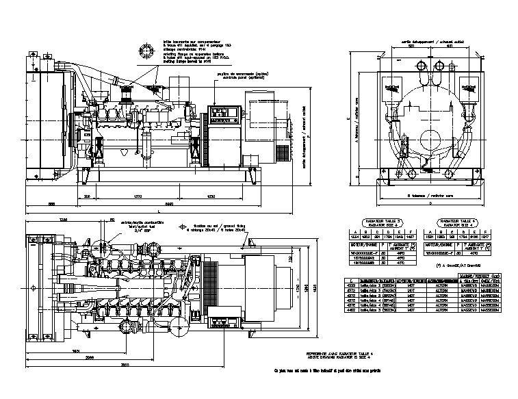 Generator detail in autocad dwg files