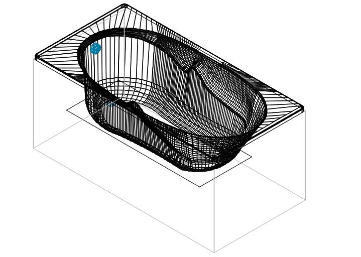 Genova acrylic bath tub
