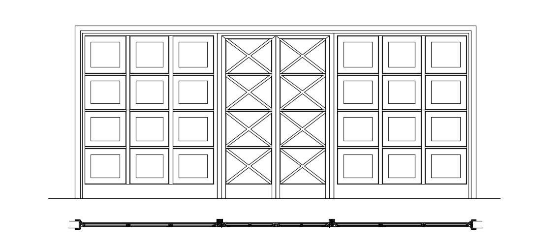 Glass Door Detail In DWG File