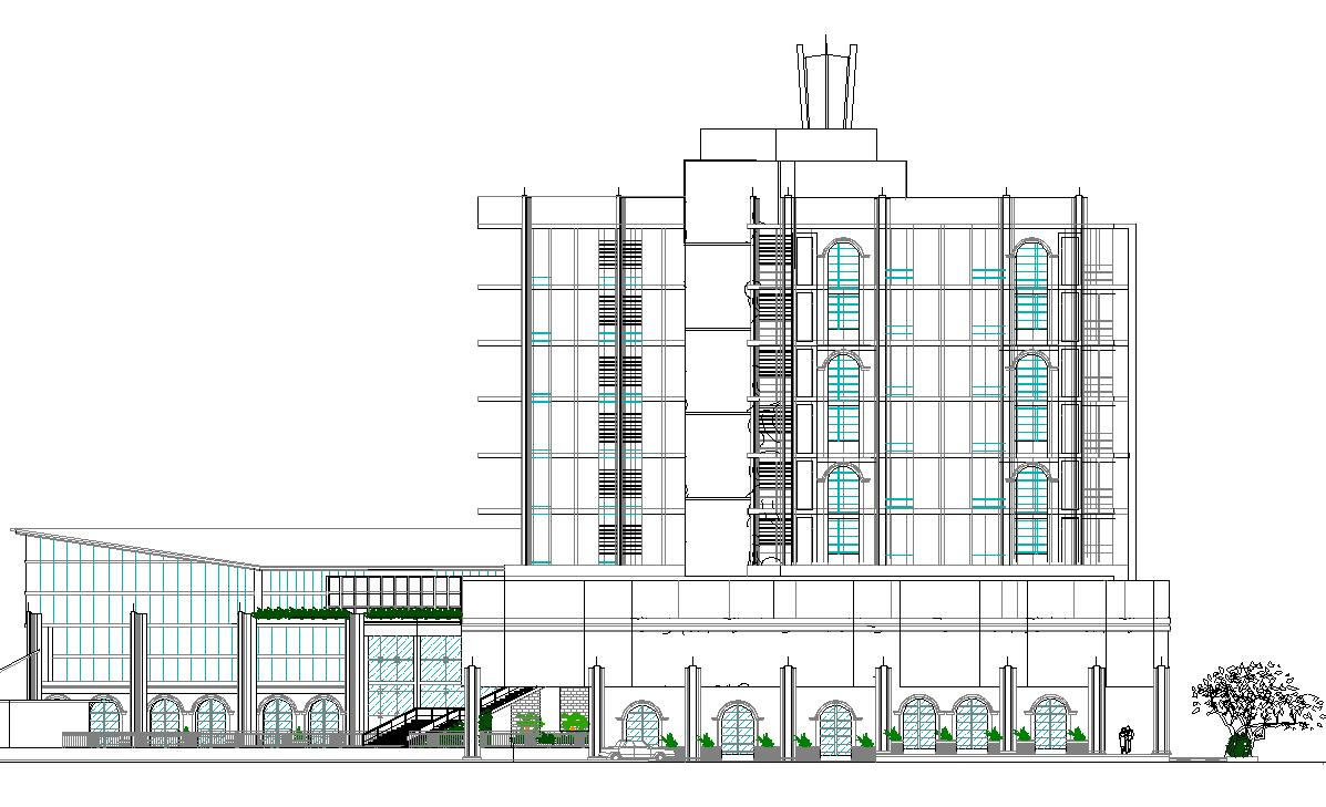 Green Building Design dwg file