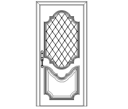 Grill door detailing front view
