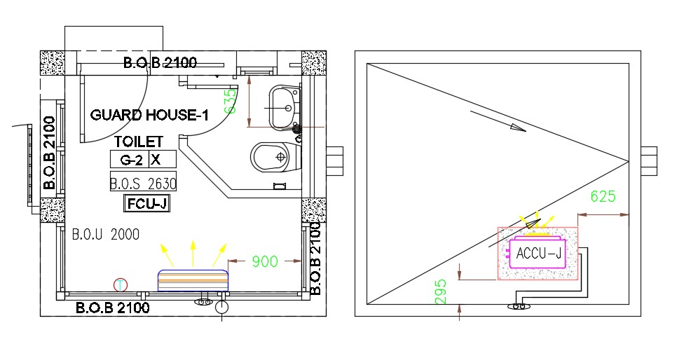 Guard  House  Plan  Design  CAD Drawing Download Cadbull