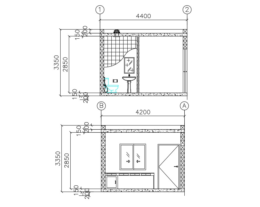 Guard Room Section Plan Free Download