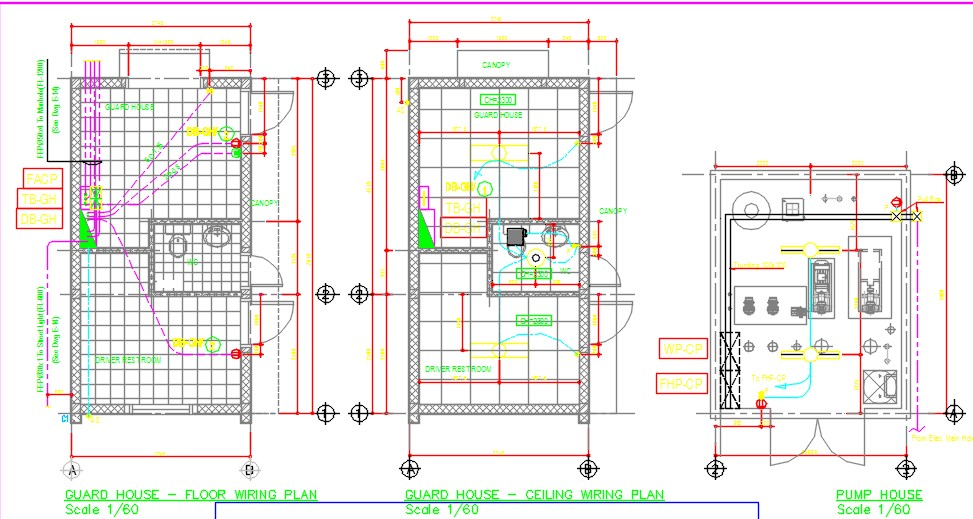 Guard house & pump room wiring plan