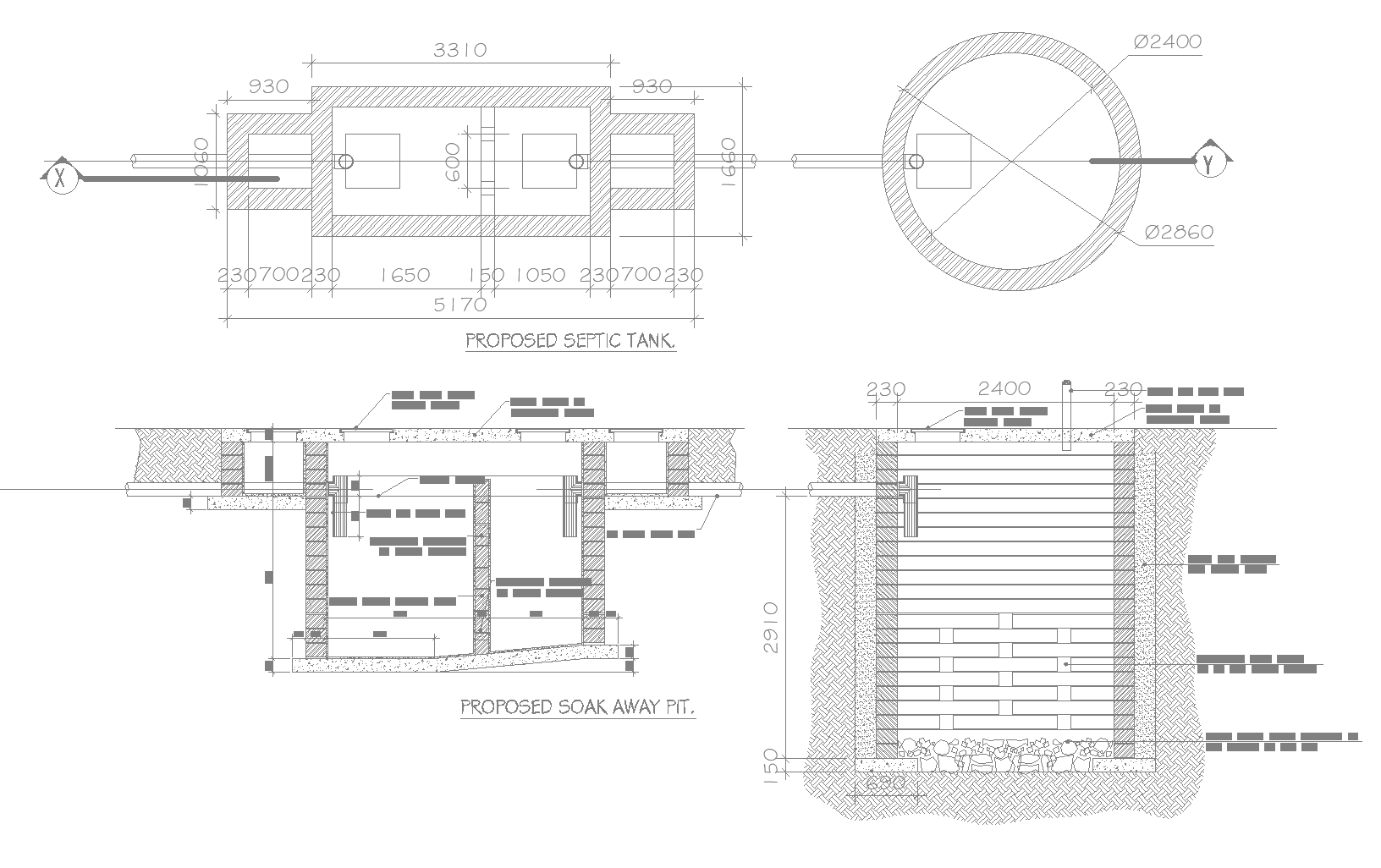 Guest house plan dwg detail.,