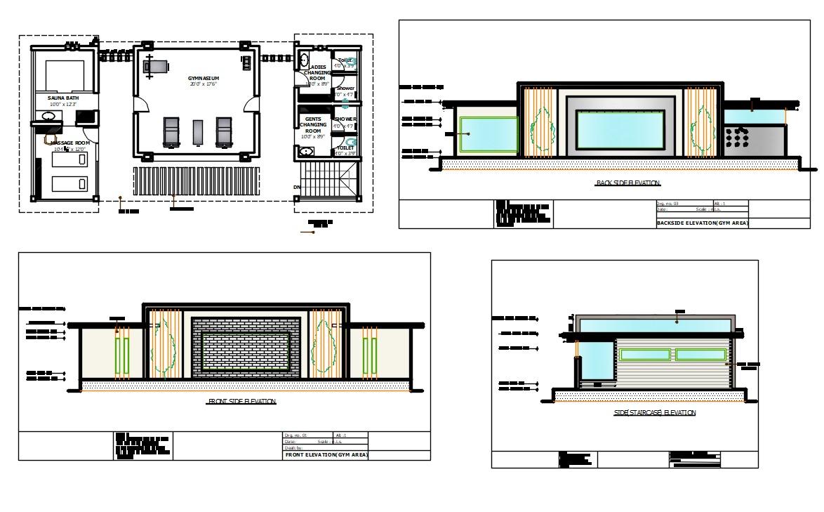 Gymnasium Plan DWG File
