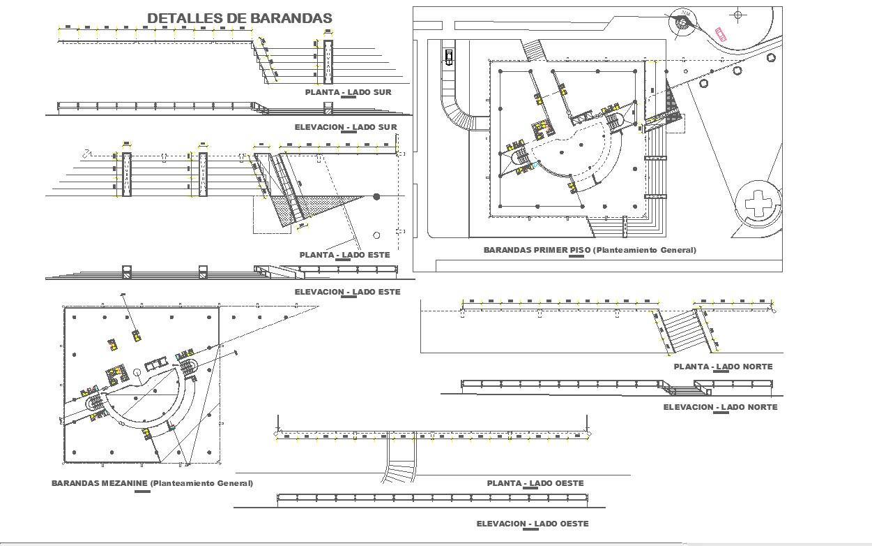 Handrails design and 2d detail