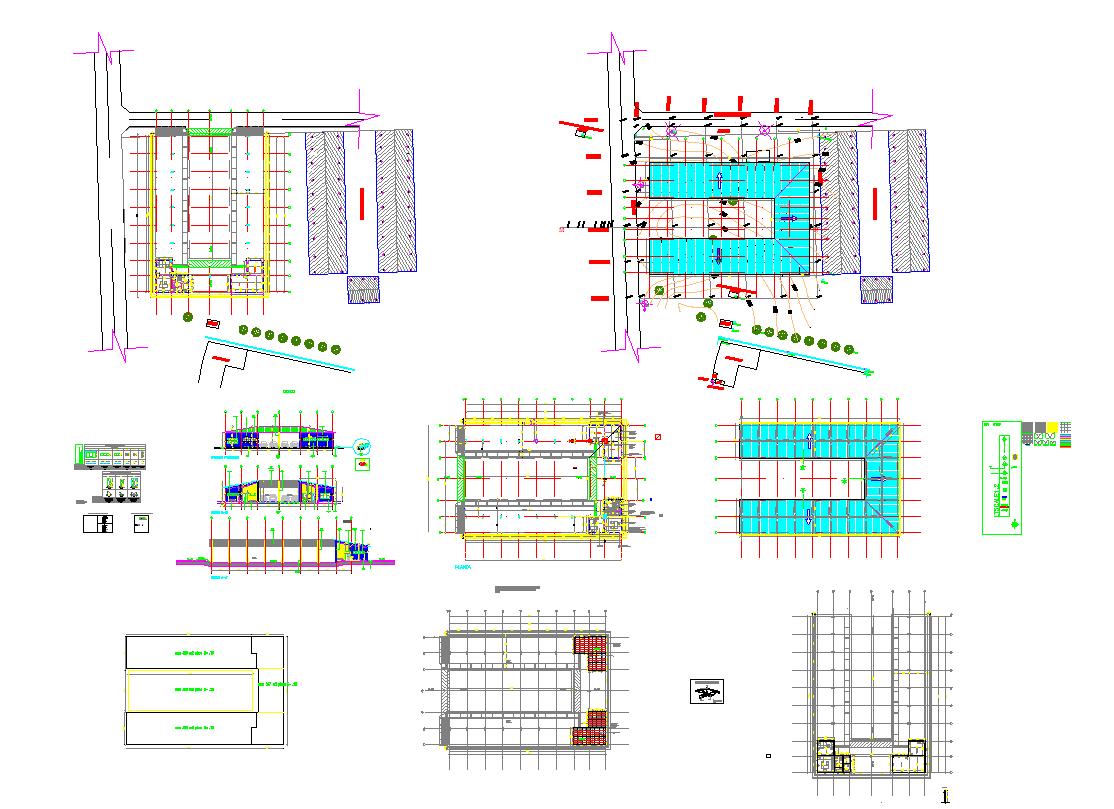 Hangar structure for vehicles in metallique