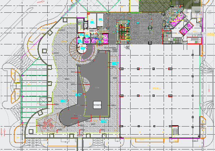 Health Club and Spa Flooring Layout dwg file