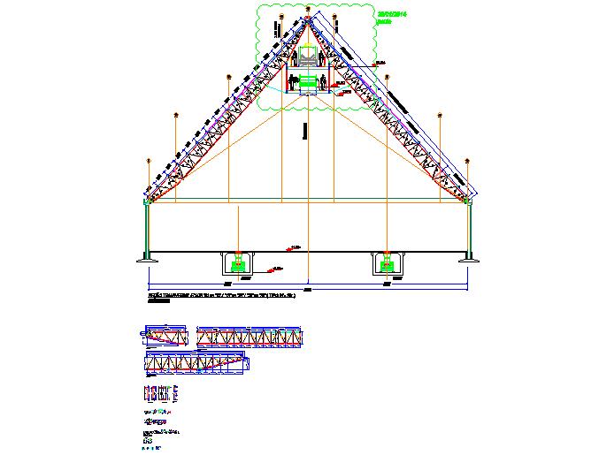Heavy factory machine equipments detailing.