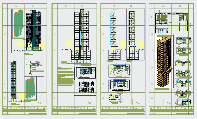 High rise Housing design drawing