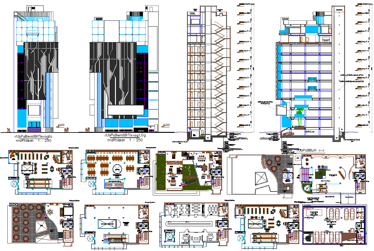 High Rise Building Plan Detail Dwg Cadbull