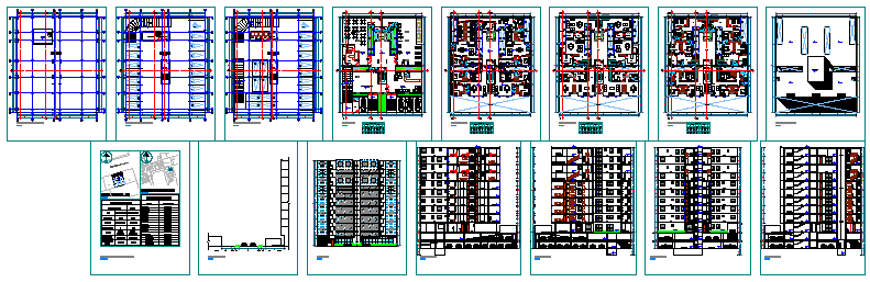 High rise tower for multi family building design drawing