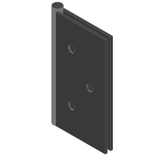 Hinge design in 3d for door