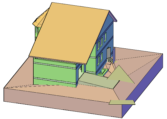 Home 3 D plan dwg file