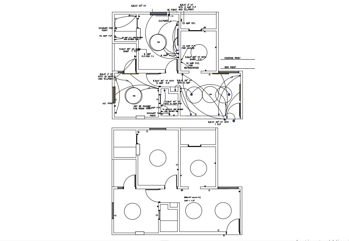 Home Electrical Wiring Plan Download Cad Drawing
