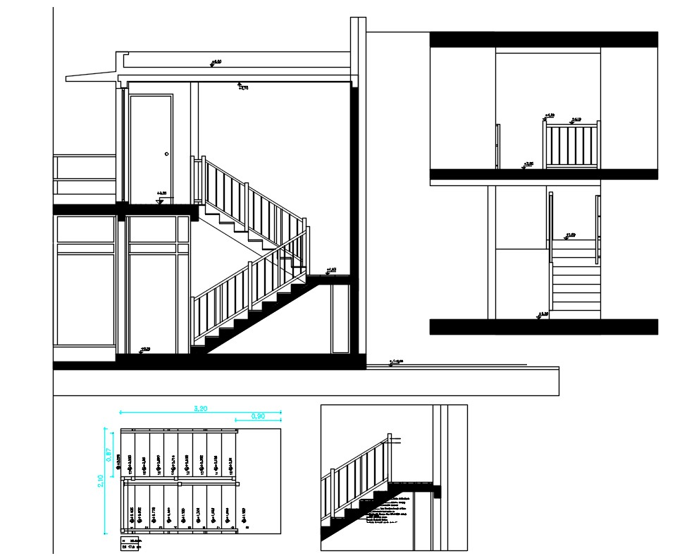 Home Staircase Drawing