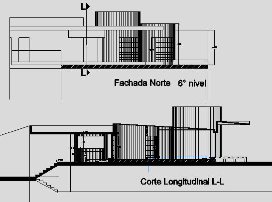 Hospital North and South Side Elevation Design dwg file
