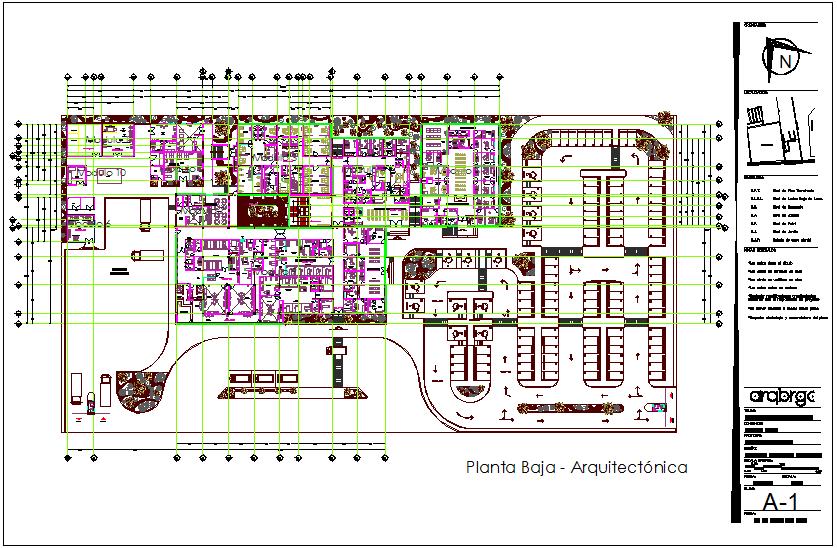 Hospital general floor plan dwg file