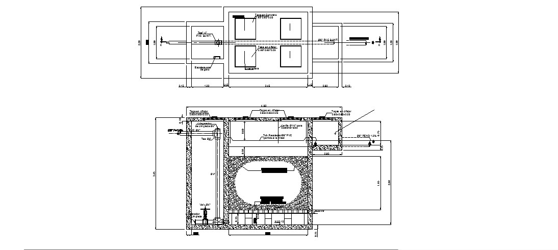 Hospital water treatment plant floor plan cad drawing details dwg file