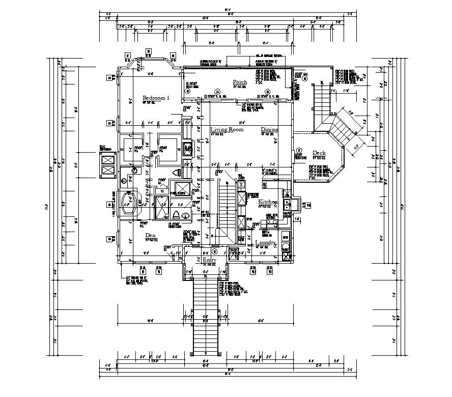 Hostel  building plan detail layout autocad file