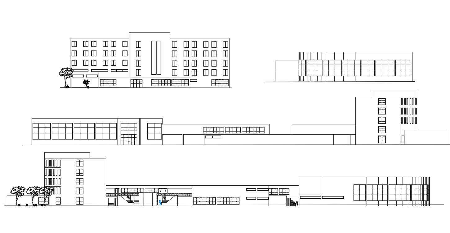 Hotel Building Elevation Download