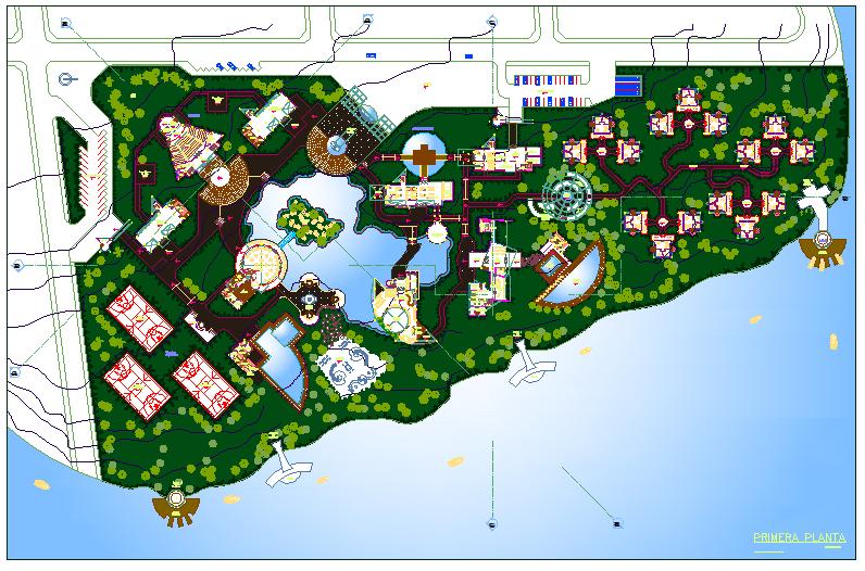 Resort Plan dwg file