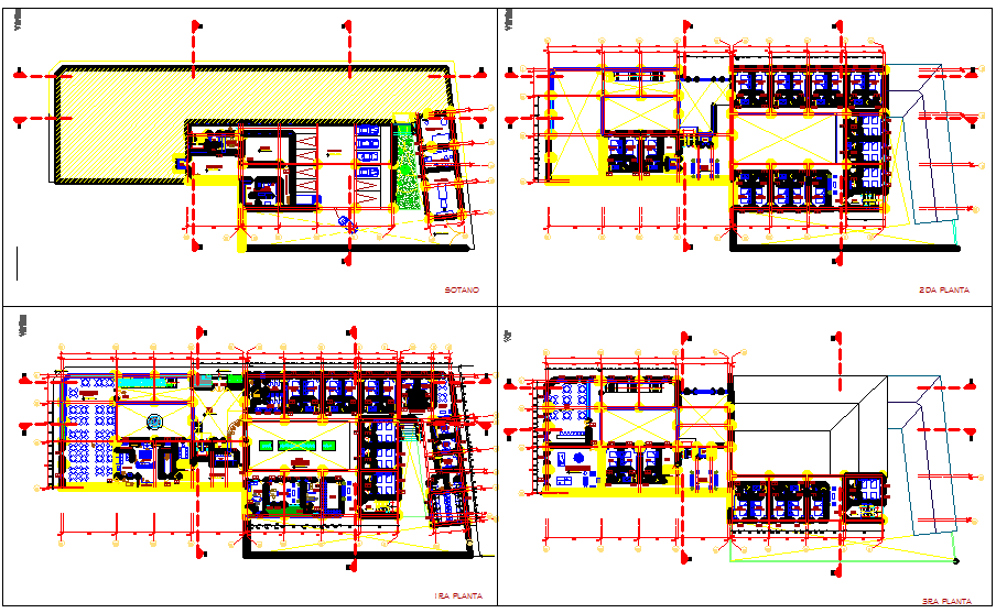 Hotel project dwg file