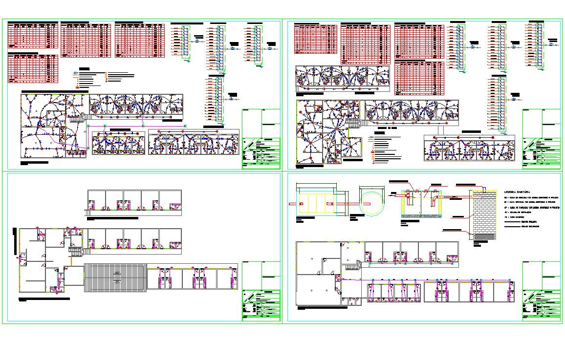 Hotel Electrical penal and Installation plan dwg file