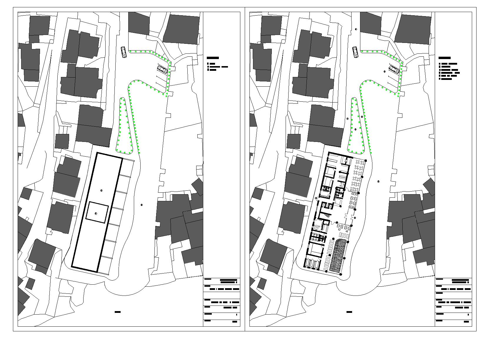 Hotel Macedonia plan detail dwg file.