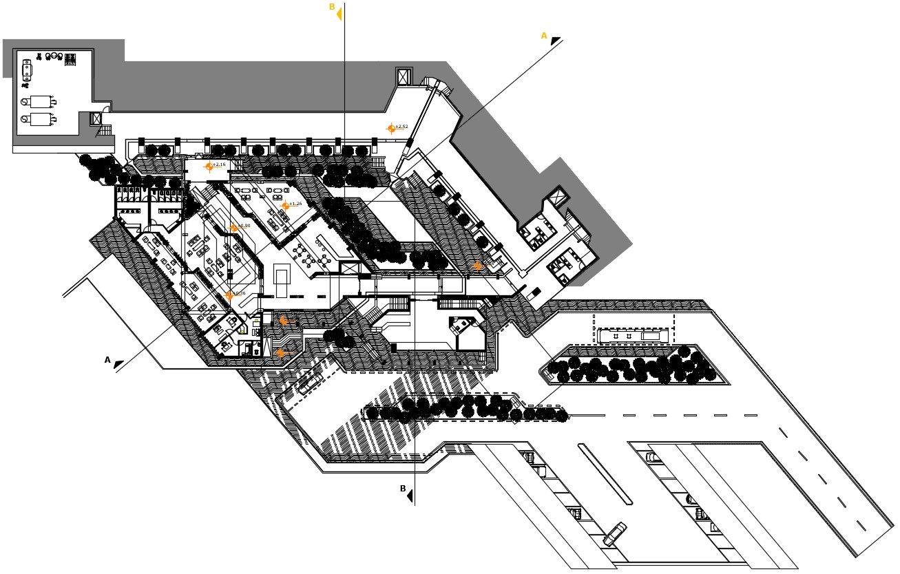 Hotel Plan CAD Drawing Download