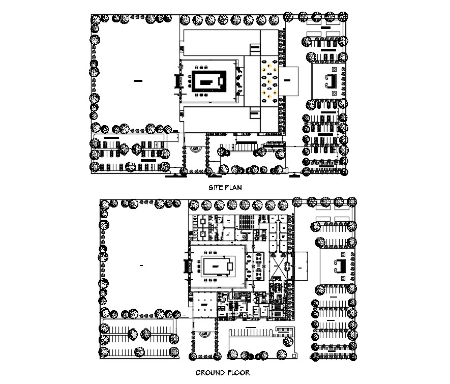 Hotel Plans In AutoCAD Drawings