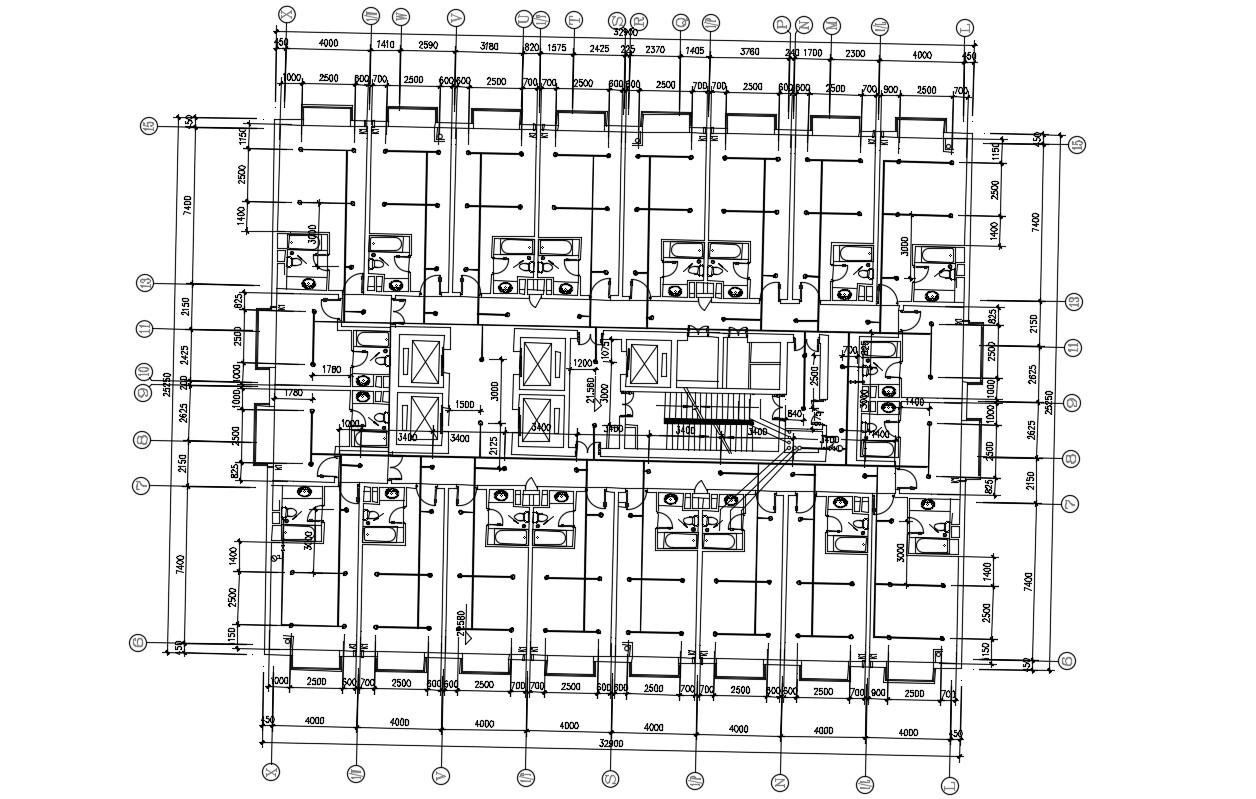 Hotel Room Floor Plan Layout CAD