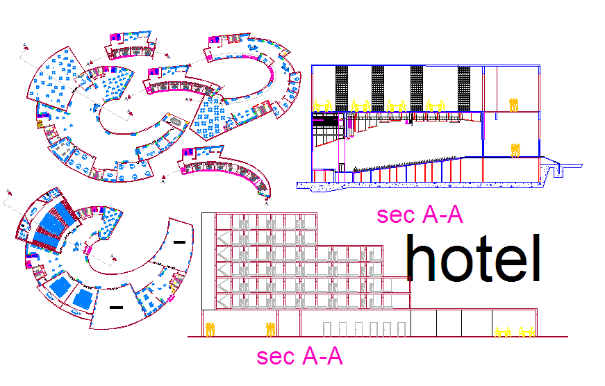 Hotel architectural design and functional planning