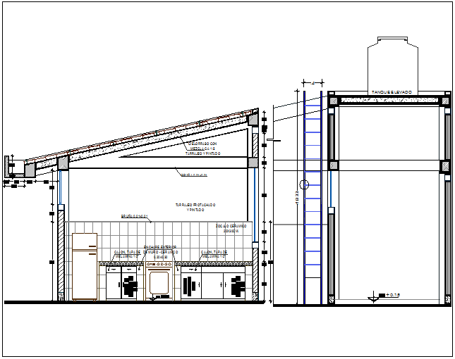 Hotel café detail plan view dwg file