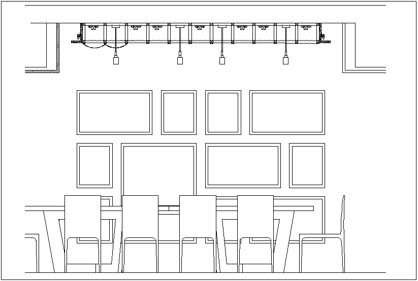 Hotel design view with elevation view of hotel dwg file