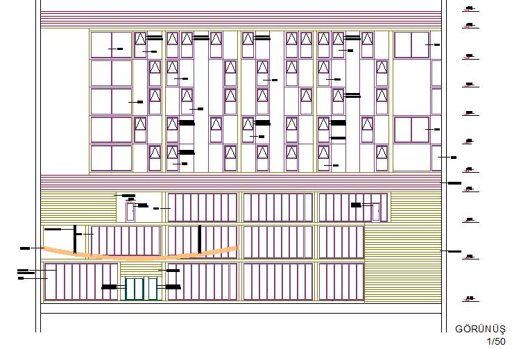 Hotel detail dwg file