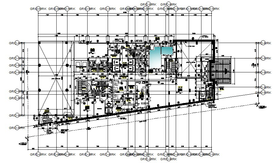 Hotel First-Floor Plan In AutoCAD File
