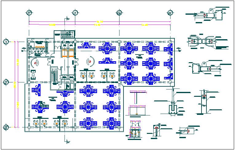 Hotel restaurant floor plan detail dwg file
