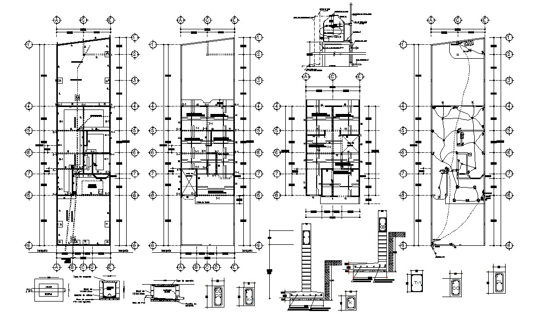 House Construction details 2d CAD drawing