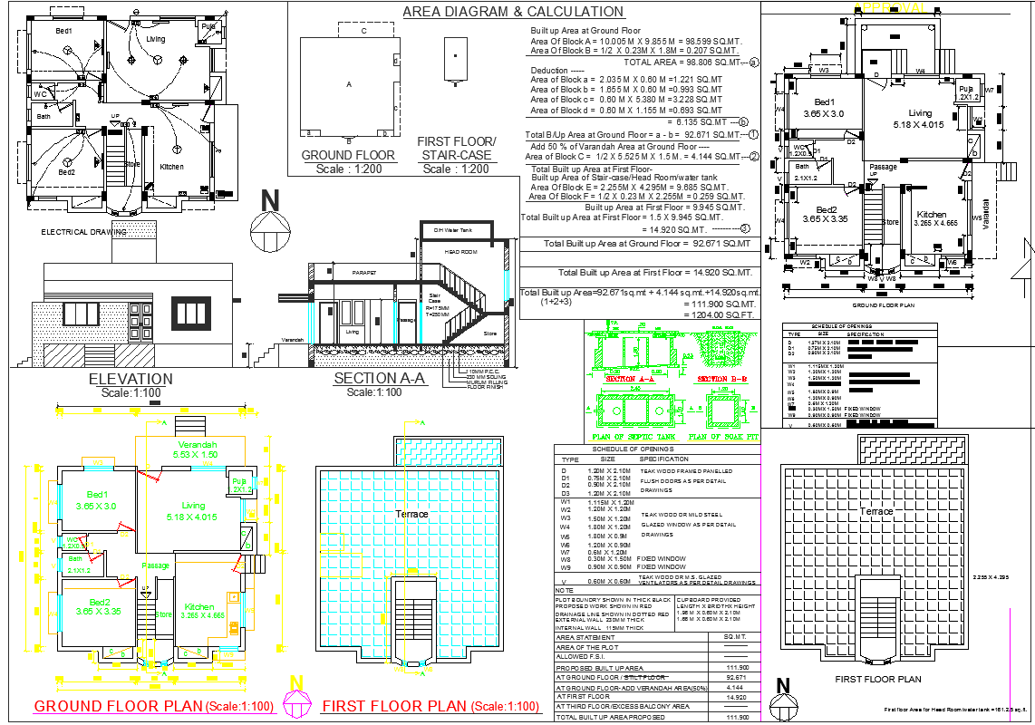 House Construction plan dwg file