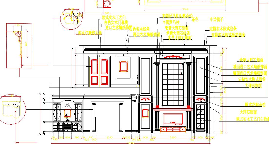 House Elevation design dwg file