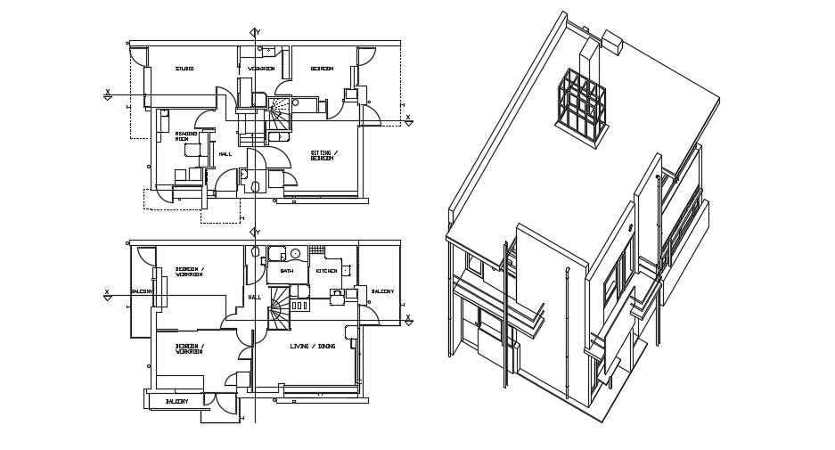 House Layout Design In AutoCAD File